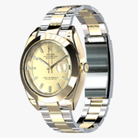 rolex oyster perpetual datejust 3d max