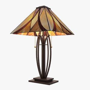 quoizel tiffany table lamp 3d max
