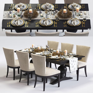 clayton armchair winnetka table 3d max