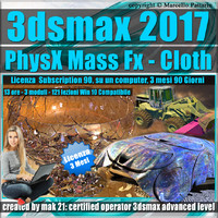 3ds max 2017 PhysX Mass Fx Cloth 3 mesi Subscription 1 Computer