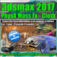 3ds max 2017 PhysX Mass Fx Cloth Locked Subscription, un Computer.