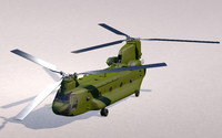 3d c4d chinook ch-47 helicopter