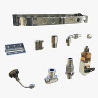 3d fasteners mounts 01 model