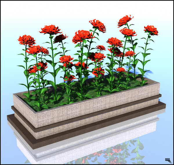 3d flowerpot planter decor