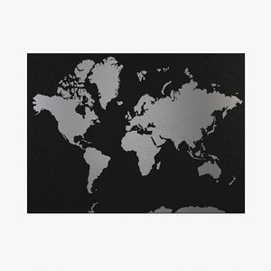 world mapped 3d max