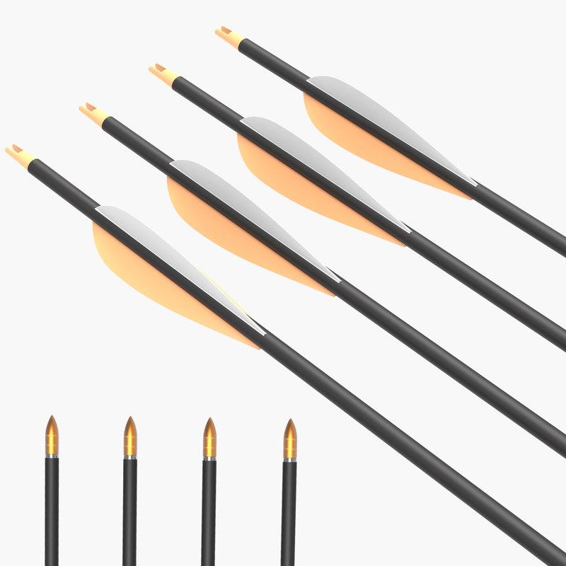 arrow set 3d model