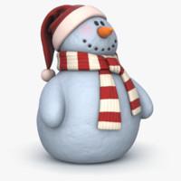 3d model snowman v-ray 2 pbr