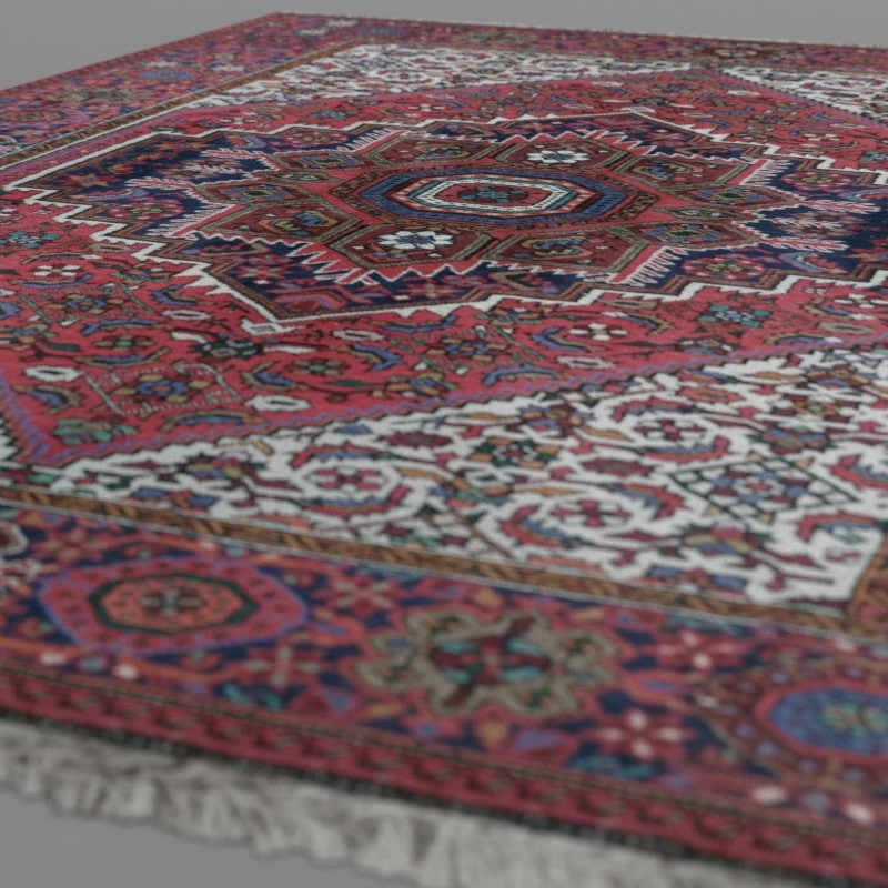 realistic persian carpet 3d model