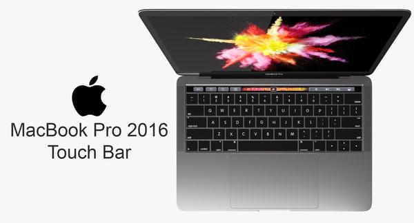 macbook pro touch bar 3d 3ds