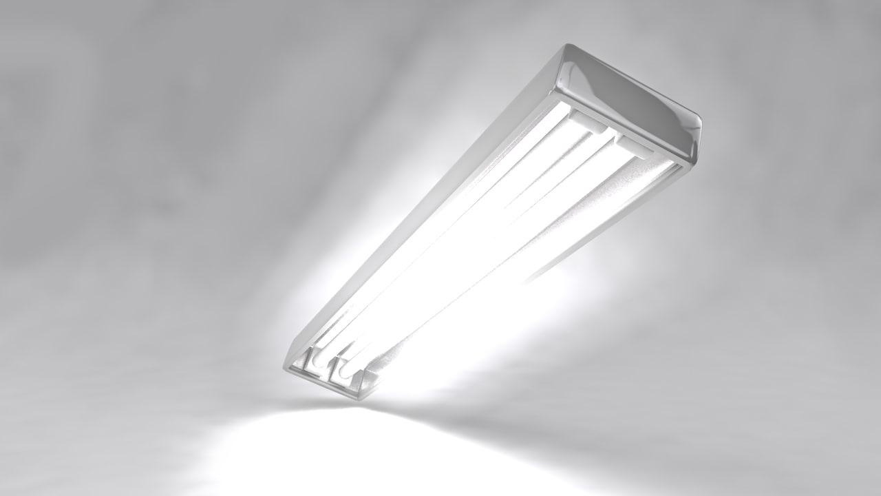 fluorescent light 3d c4d