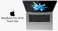 3d model macbook pro touch bar
