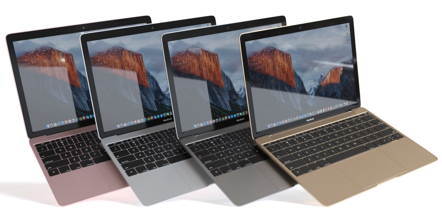 macbook 12-inch 12 3d model