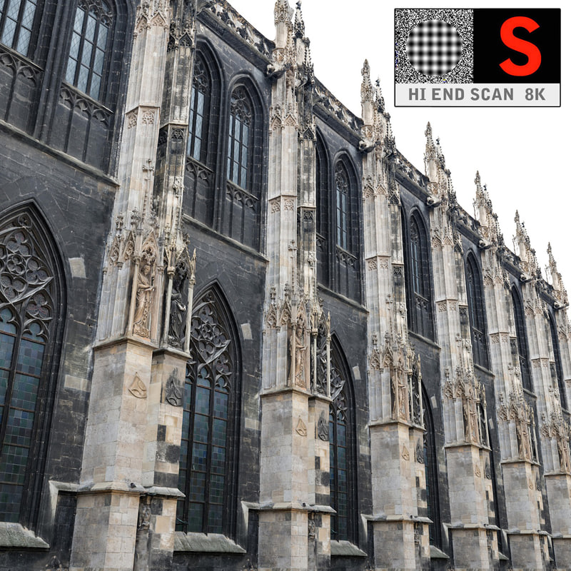 3d model gothic architecture