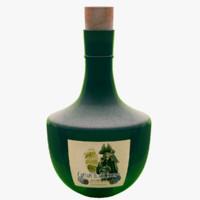 3d model of glass bottles