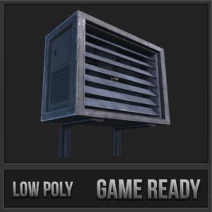 3d air conditioner unit 01 model