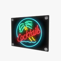 neon sign 3d model