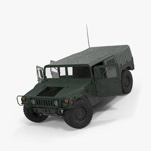 soft military car hmmwv 3d model