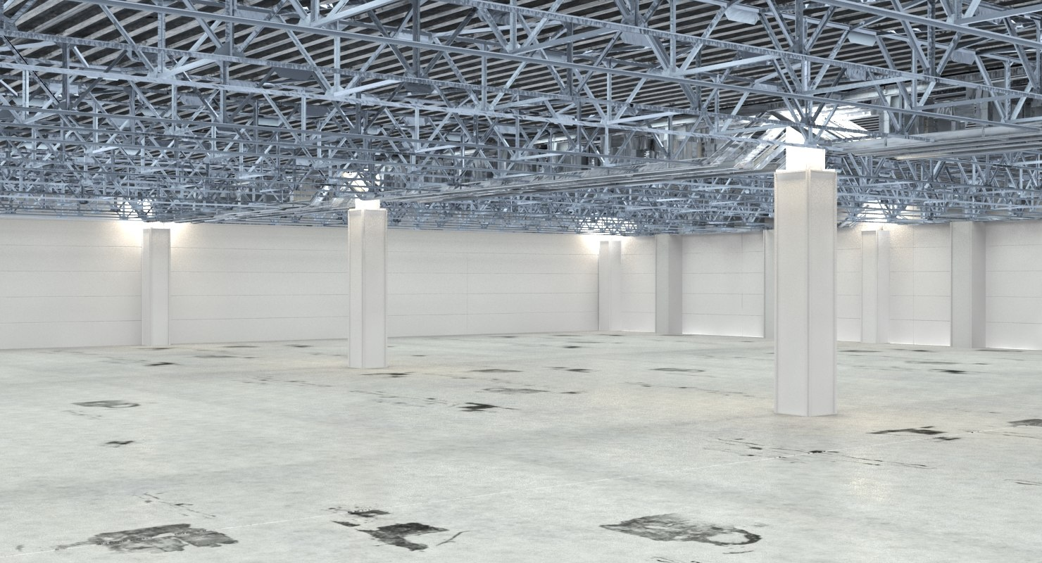 warehouse interior factory 3d max