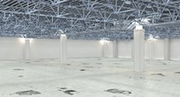 warehouse interior factory 3d max