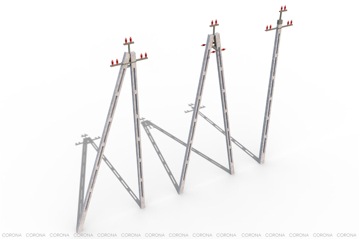 power lines 3d max