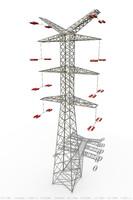 3d power lines model