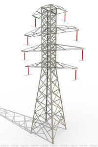 3d model power lines