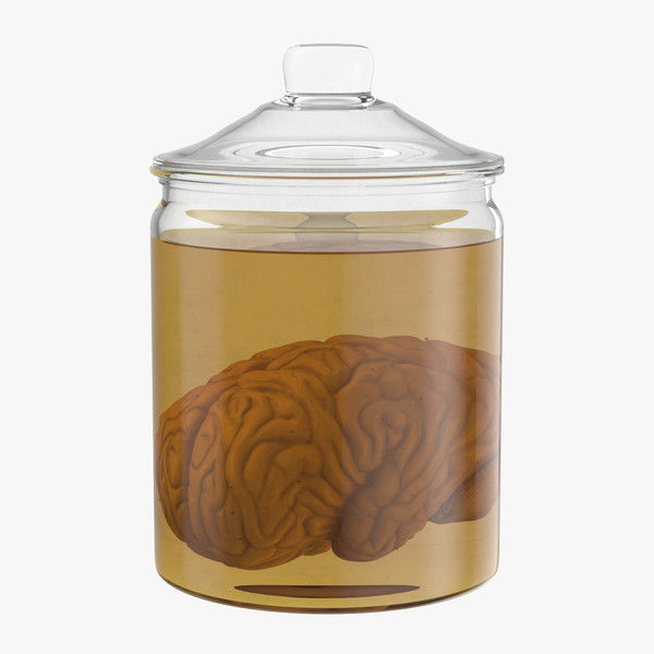 3d vintage organ jar -