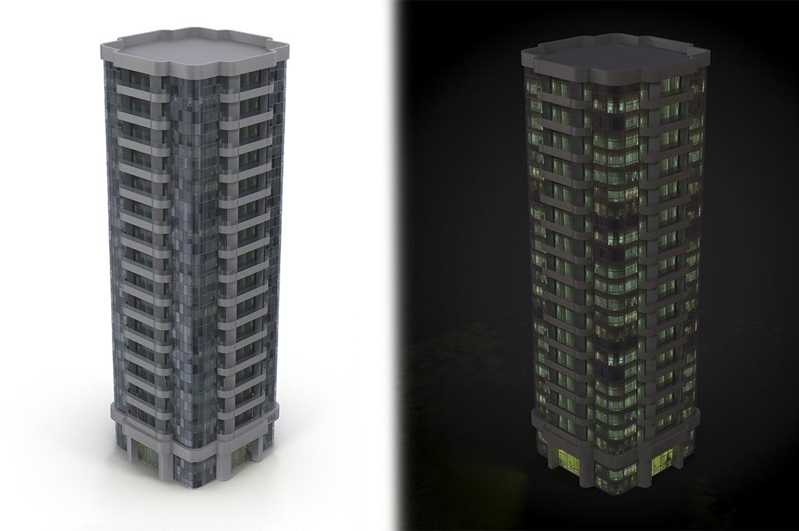 skyscraper cityscape 3d model