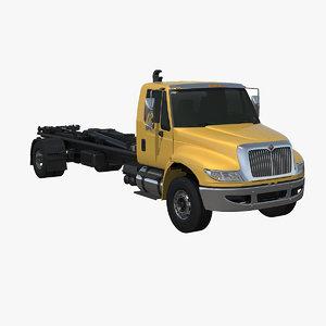 3d model hydraulic hooklift truck