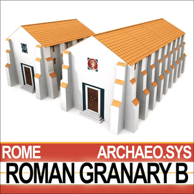 3ds ancient roman granary b