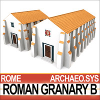 3ds ancient roman granary b