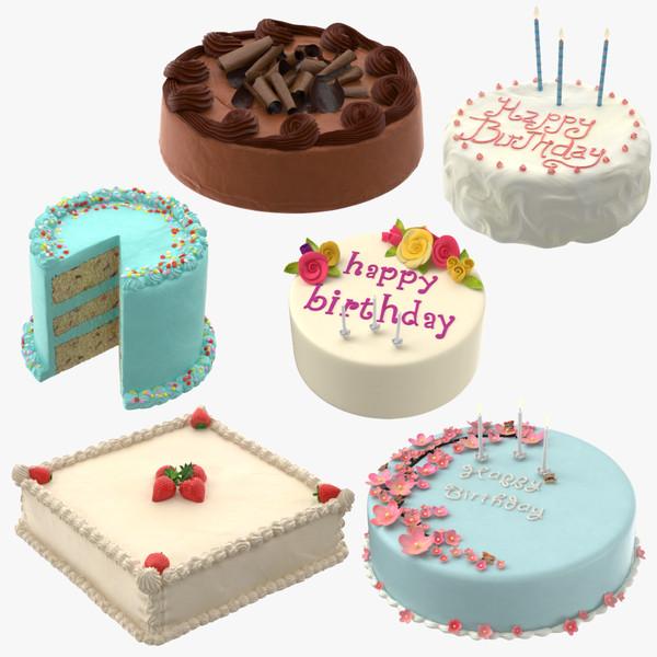 3d cakes 01 birthday model