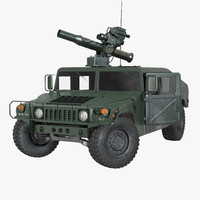 hmmwv tow missile carrier 3d model