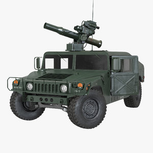 hmmwv tow missile carrier 3d model
