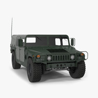 c4d soft military car hmmwv