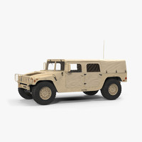 3d model soft troop carrier hmmwv