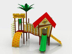 3d model monkey playland
