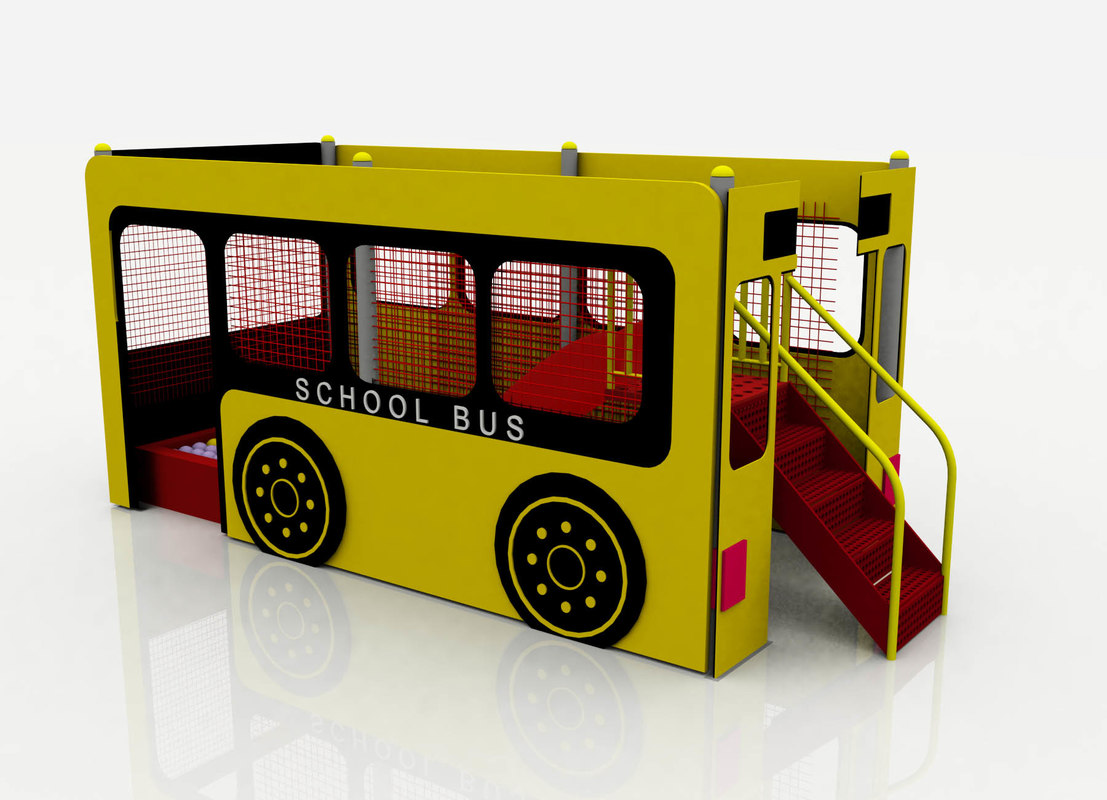3d model mini bus playground