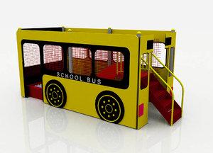 3d model mini bus playground