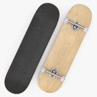 3d realistic skateboard model