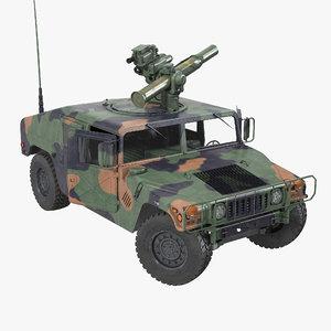 3d hmmwv tow missile carrier model