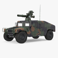 HMMWV TOW Missile Carrier M966 Camo Simple Interior