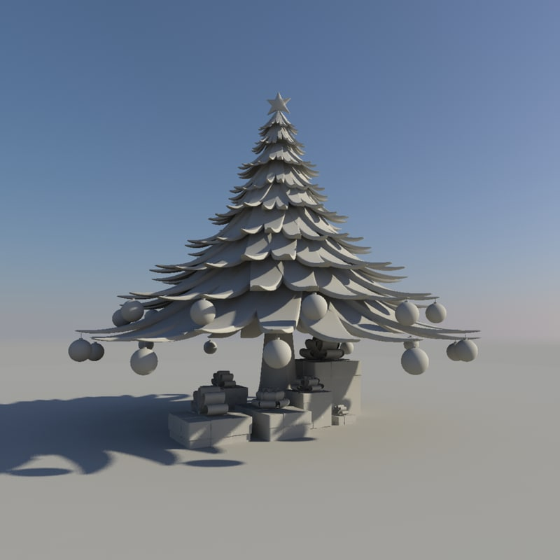 obj christmas tree