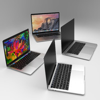 3d model new apple macbook pro
