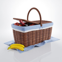 3d model picnic basket