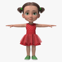 cartoon girl kid emma 3d ma