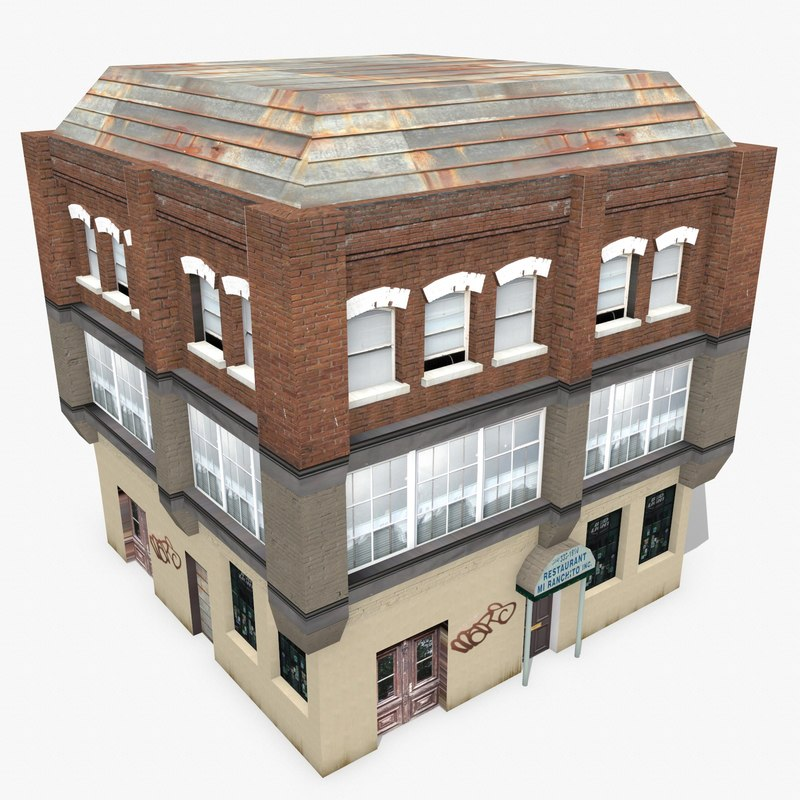 photorealistic building apartment 9 3d model