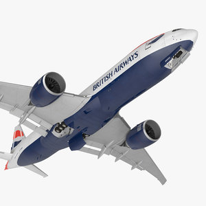 3d max boeing 777 freighter british airways