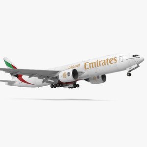 3d model boeing 777 freighter emirates