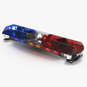3d police lightbar code 3 model